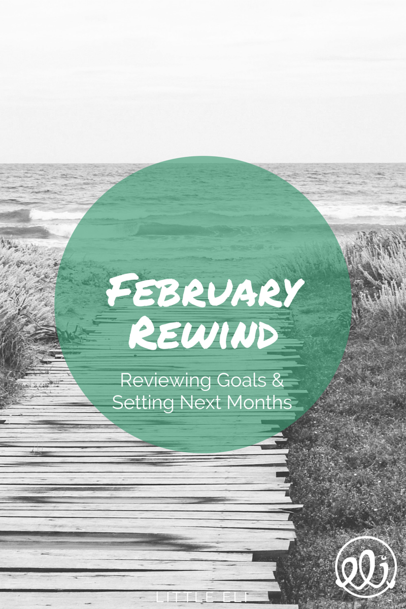 February Rewind - Goal Setting and Tracking - Little Eli
