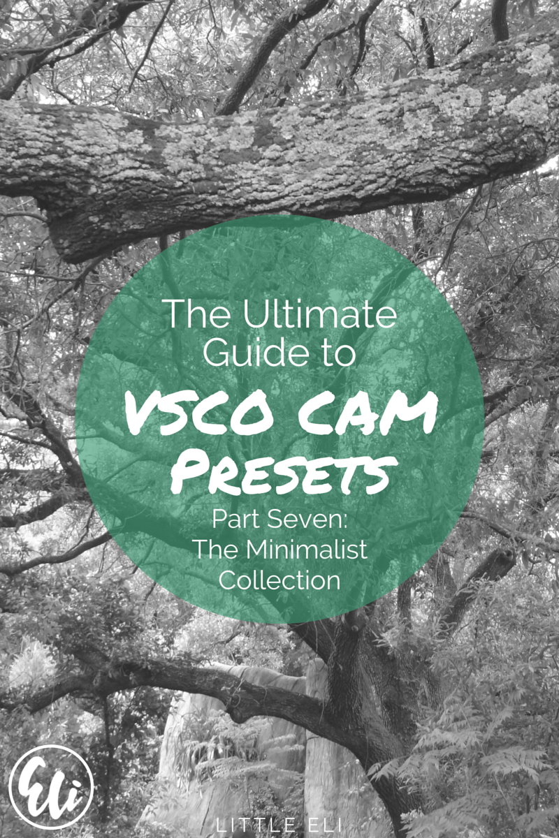 PART SEVEN: The Ultimate Guide to VSCO Cam Presets. The Minimalist Collection