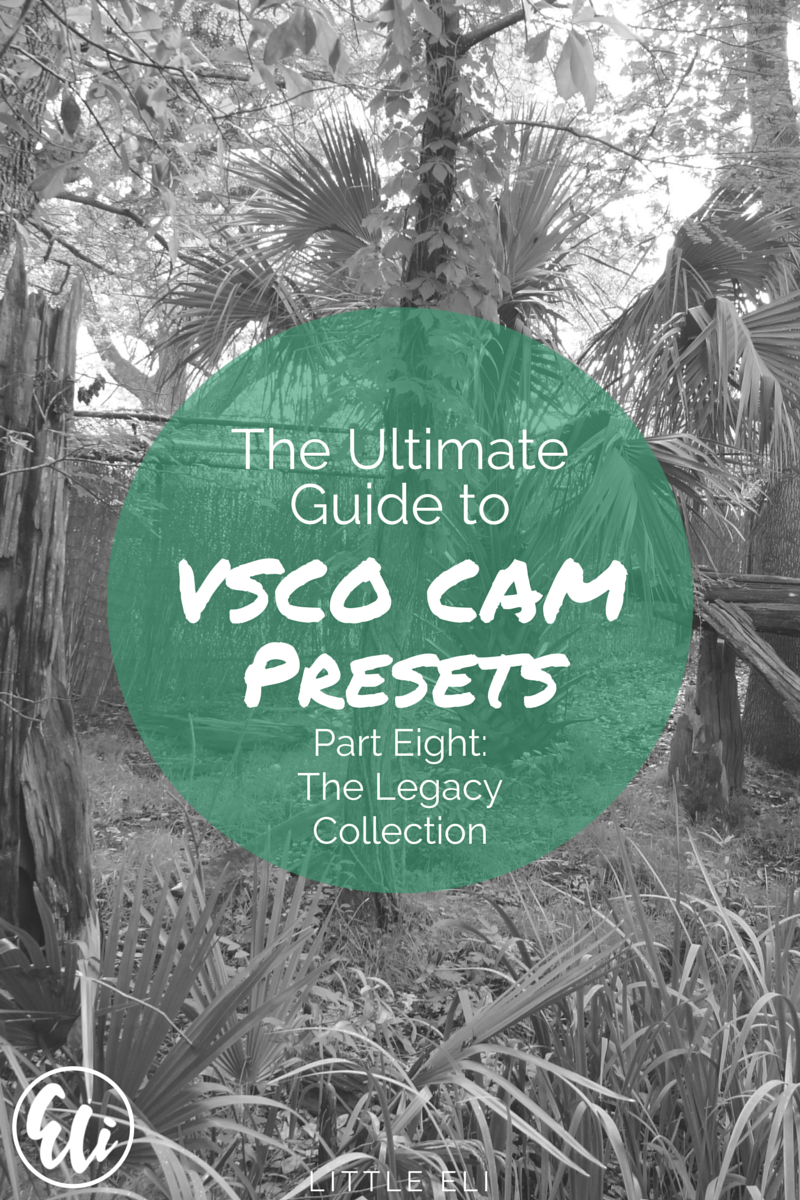 PART EIGHT: The Legacy Collection. The Ultimate VSCO Cam Preset Review - Little Eli