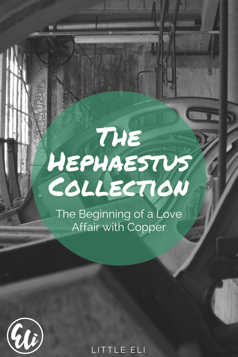 The Hephaestus Collection - Concrete and Copper Jewelry - Little Eli