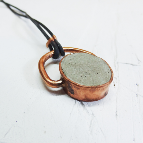 Hephaestus 1 -Concrete and Copper Jewelry - Little Eli