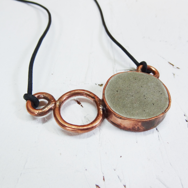 Hephaestus 2 - Concrete and Copper Jewelry - Little Eli