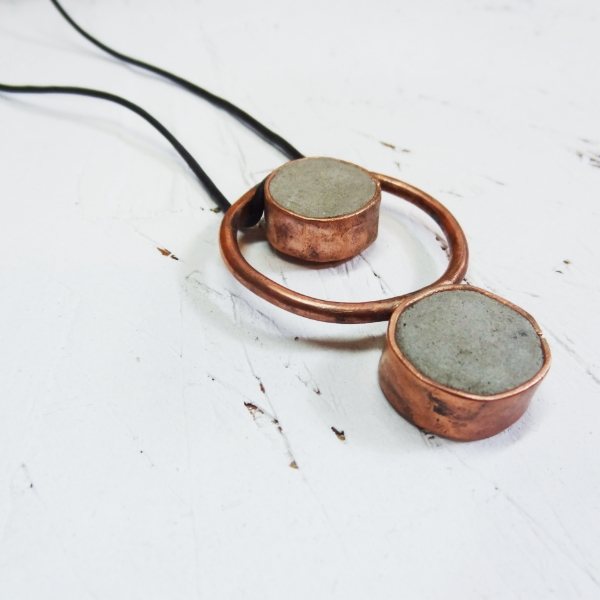 Hephaestus 3 - Concrete and Copper Jewelry - Little Eli