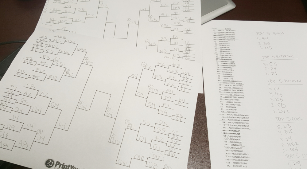 The head-to-head bracket.