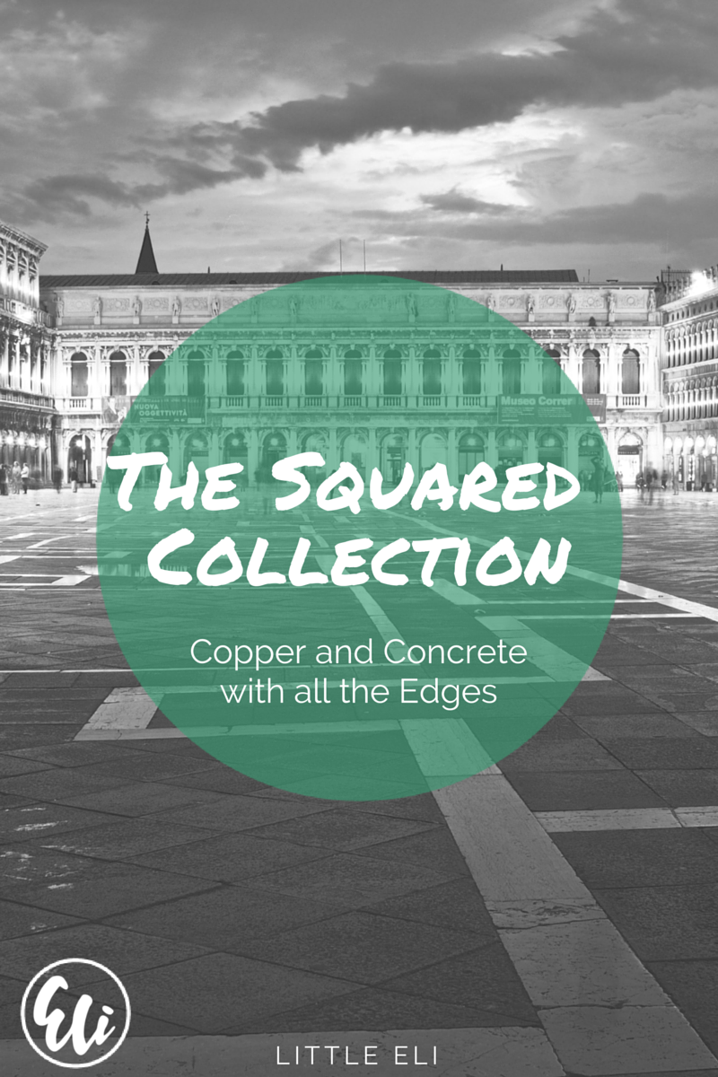 The Squared Collection - Copper and Concrete Jewelry - Little Eli