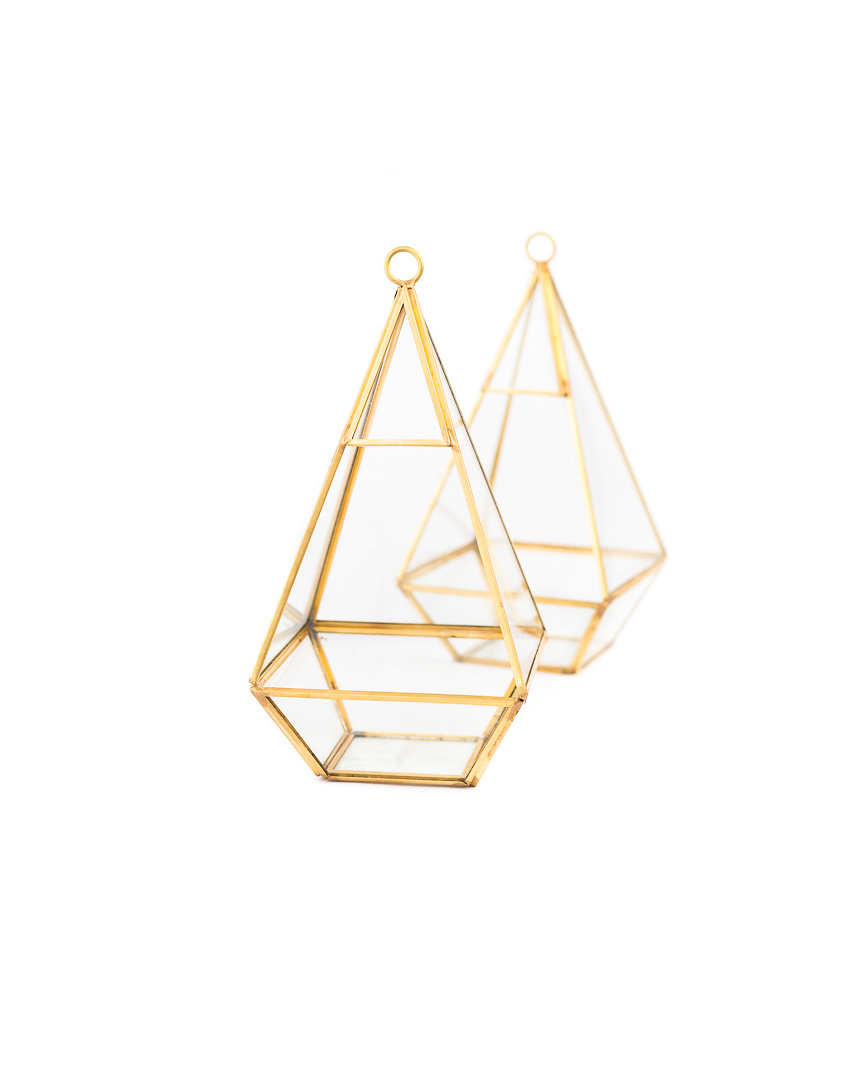 gold + glass terrarium