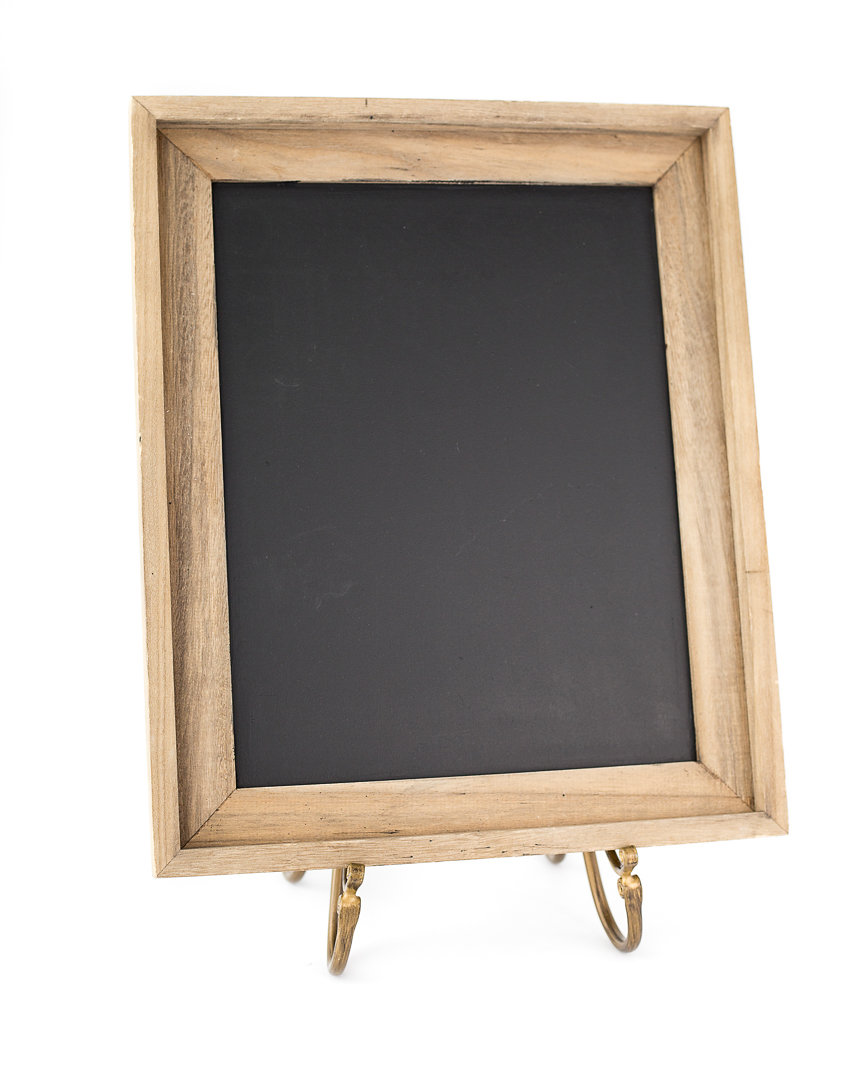 small wood frame chalkboard