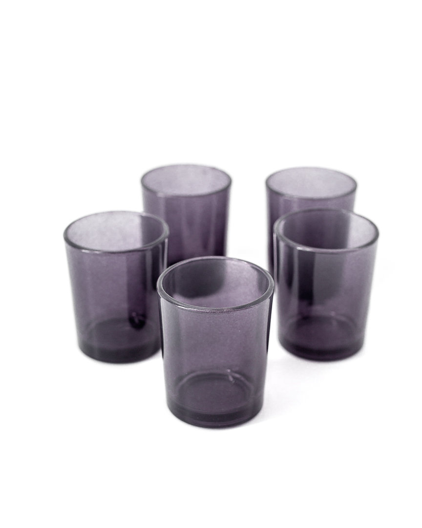 purple grey votive