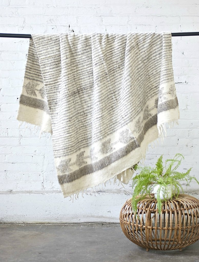 MOMO WOOL BLANKET GREY