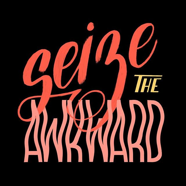 awkward conversations are one of my biggest fears 🙈 I'm so glad @seizetheawkward exists to help people like me reach out to friends in need 💕 #goodtypetuesday #seizetheawkward #suicidepreventionawareness _____________________________________ #lettering_daily #ligaturecollective #thedailytype #typelove #handmadefont #typegang #typeyeah @typeyeah #showusyourtype #perspectivecollective #typetopia @typetopia #calligritype #designspiration @designspiration #goodtype @goodtype #strengthinletters #typespire #typematters #letteringco #handdrawntype #letteringart #typism #womenofillustration #50words @50wordsongrey #womenwhodraw #typeriot #createdtoday