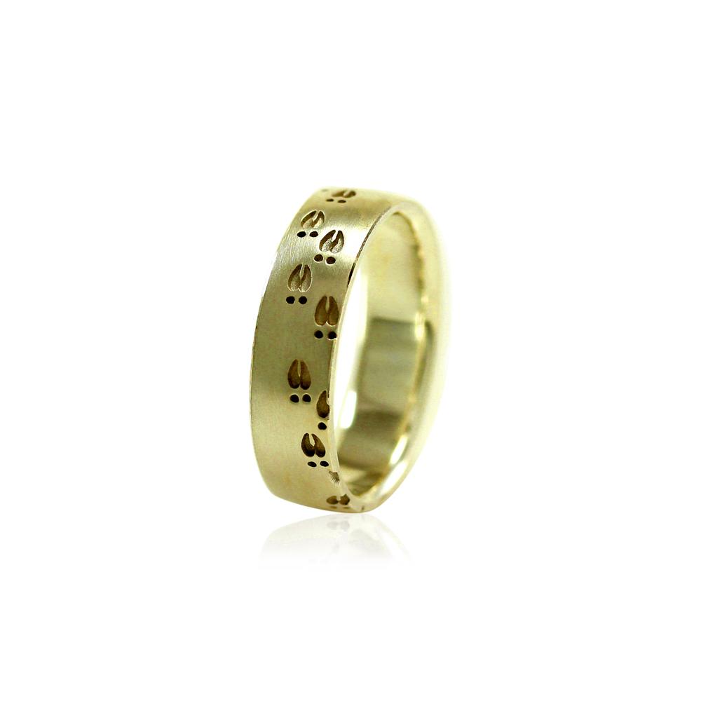 Deer Hoof Band Ring 6mm Mens Wedding Ring Metal Wendler