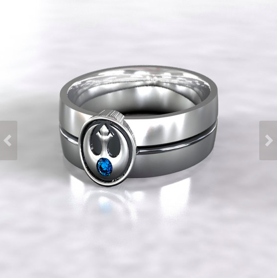 Star Wars Rebel Alliance Wedding Ring