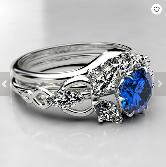 Elvish Arwen inspired Engagement Ring- Lab Saphire 3.png
