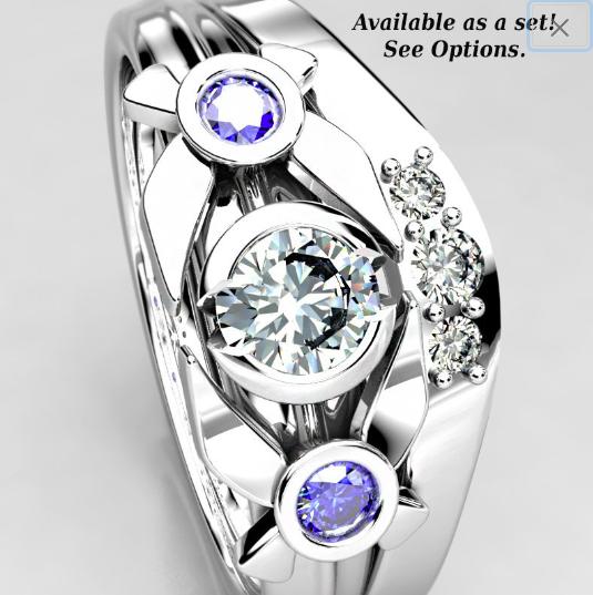 Legend of Zelda Inspired Wedding Ring Set - Navi Rings.png