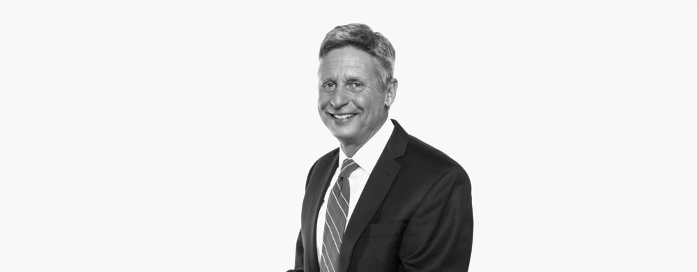 Gary Johnson,  Libertarian Party nominee for President of the United States, Governor of New Mexico