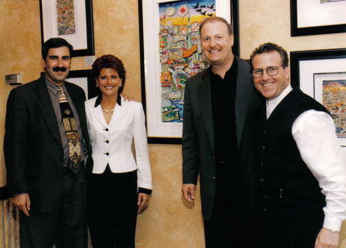 1997-Charles Fazzino, David Katz, Anita Katz & Brian Liss