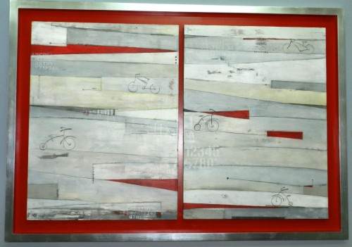 "Going in Red 41""x71"""