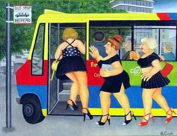 "Bus Stop 15.5""x19.75"""