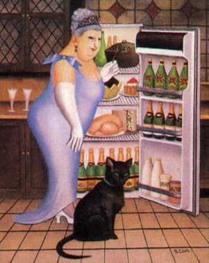 "Percy At The Fridge 21.5""x17"" - RARE EDITION"