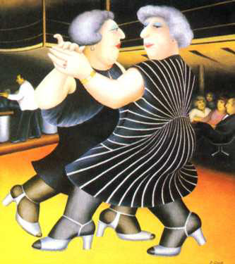 "Dancing On The QE2 29.75""x26.75"" - RARE EDITION"