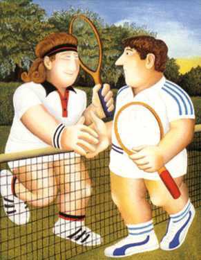 "Tennis 33.75""x27"" - RARE EDITION"