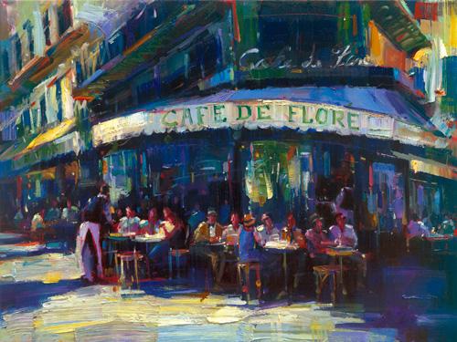 """Cafe de Flore 30"""" x 40"""""""