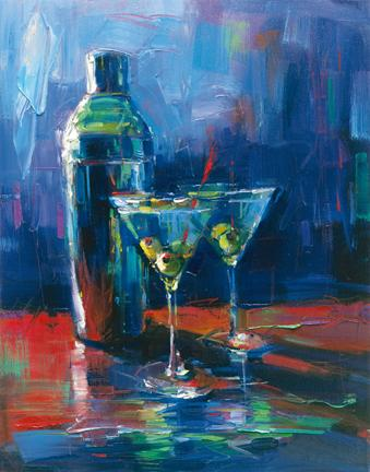 "Martini for Two 11""x14"""
