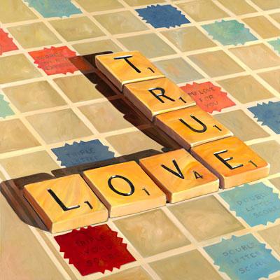 """True Love 30""""x 30"""""""