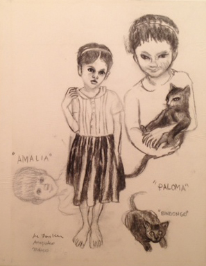 "Amalia, Paloma, Bindongo 13"" x 17"""