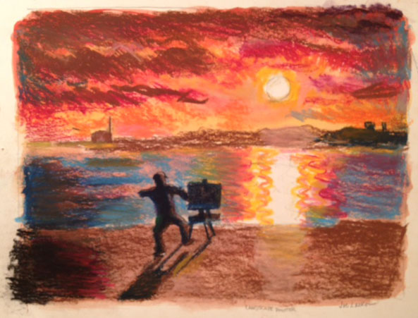 "Landscape Painter 13.5"" x 11"""