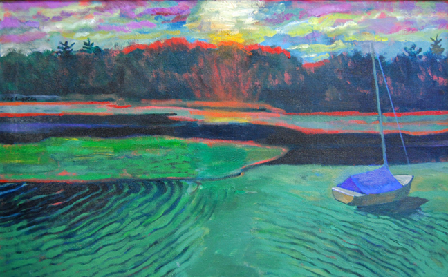 "Low Sun High Tide 22"" x 36"""