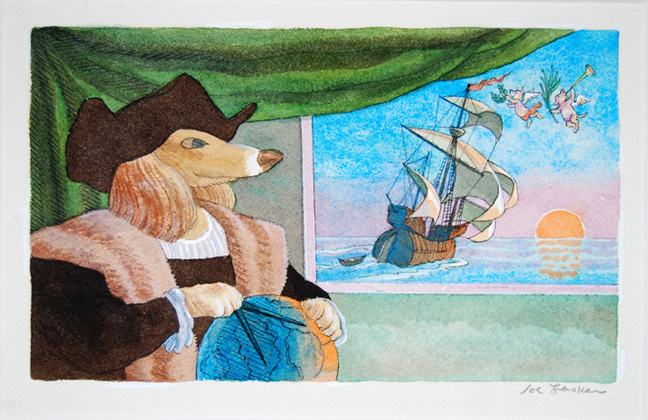 "Tales of a Seadog 18"" x 14"" approx."
