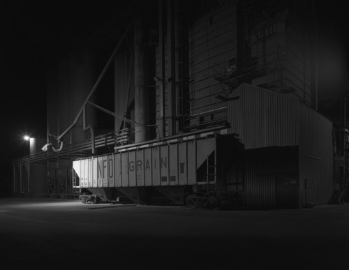 Grain Elevator and Train Car