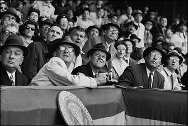 J.F.K. & L.B.J. at Baseball Opener, 1961