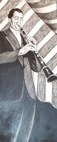 Clear Clarinet Drawing
