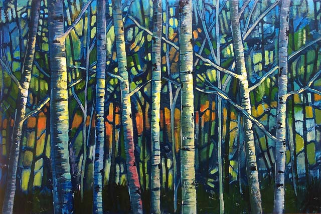 "Bare Forest 24""x36"""