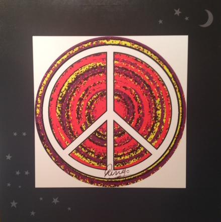 """Peace Mural 40""""x40"""""""