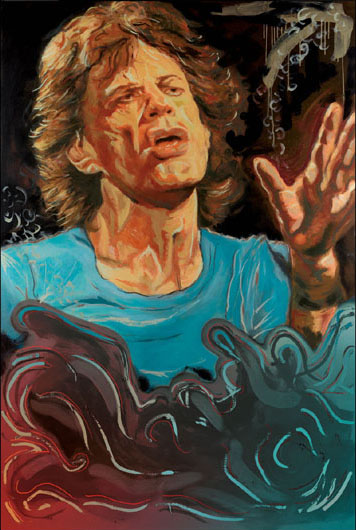 "The Blue Smoke Series - Mick 26""x17.5"" - RARE EDITION"