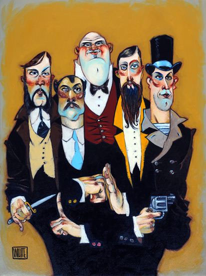 "Band of Thugs 25""x34"""