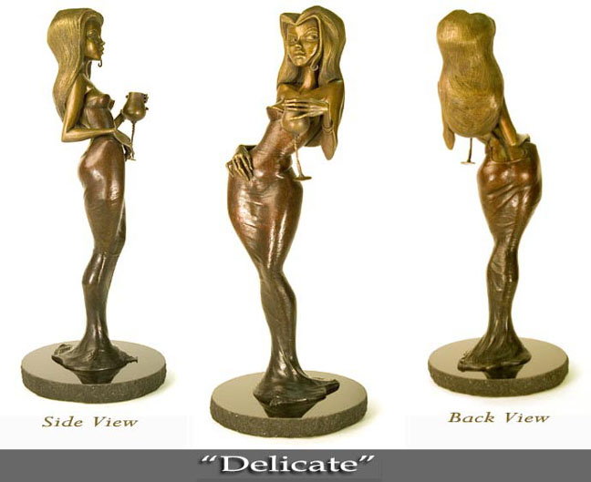 "Delicate - Limited Edition Bronze Sculpture - 27.5""x10""x11"""