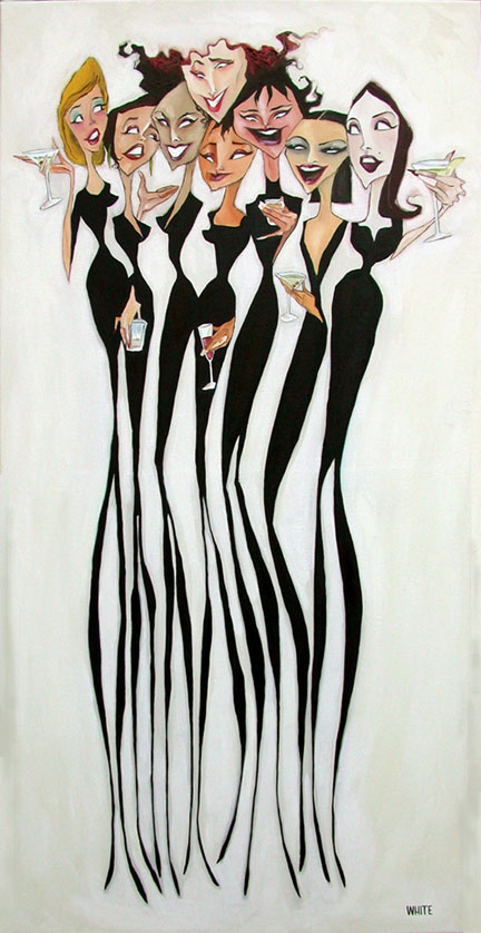 """Girl Party 32""""x16"""""""