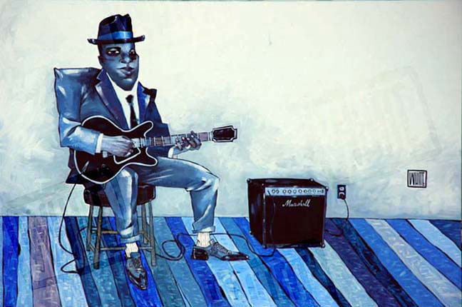 "Just Blues 20""x30"""
