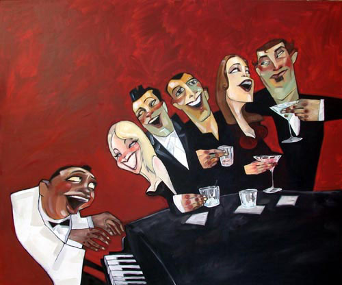 "Piano Bar 32""x38"" - SOLD OUT EDITION"