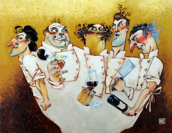 "Those Mad Mad Chefs 30""x23.5"""