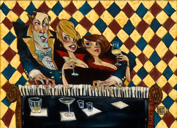 "Who's Glamouring Who 40""x28"""