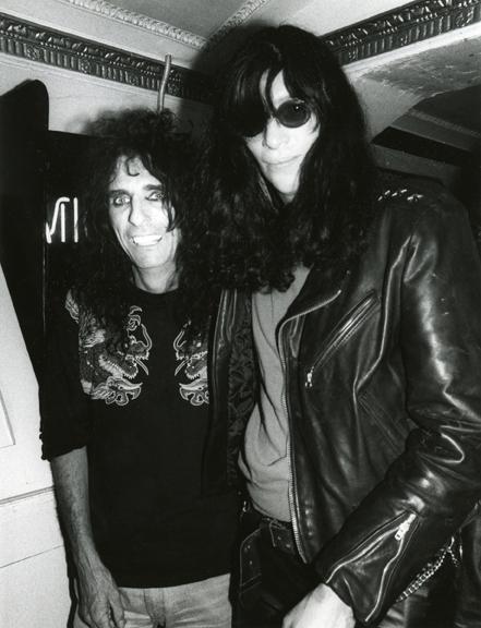 Alice Cooper & Joey Ramone, NYC, 1990