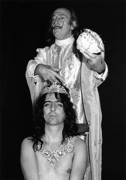 Alice Cooper & Salvador Dali, NYC, 1973