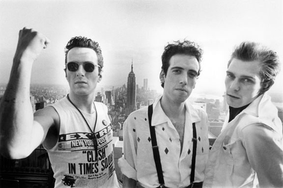 The Clash on Top of RCA Building, NYC