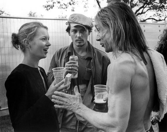 Kate Moss, Johnny Depp, & Iggy Pop