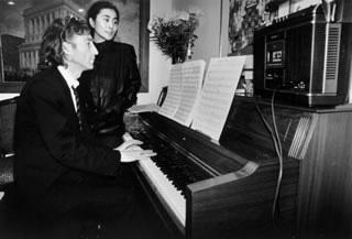 At Piano, Hit Factory, NYC, 1980